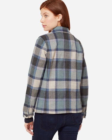 ADDITIONAL VIEW OF MARLOW PLAID WOOL JACKET IN BLUE BLOCK PLAID