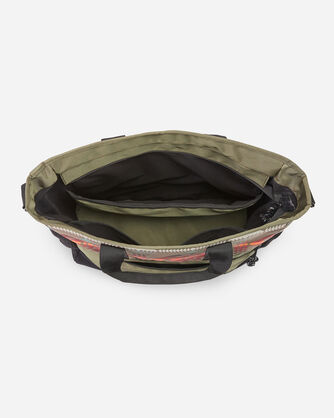 ALTERNATE VIEW OF BASKET MAKER CANOPY CANVAS CARRYALL TOTE IN OLIVE