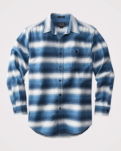 FITTED PRESTON INDIGO STRIPE SHIRT