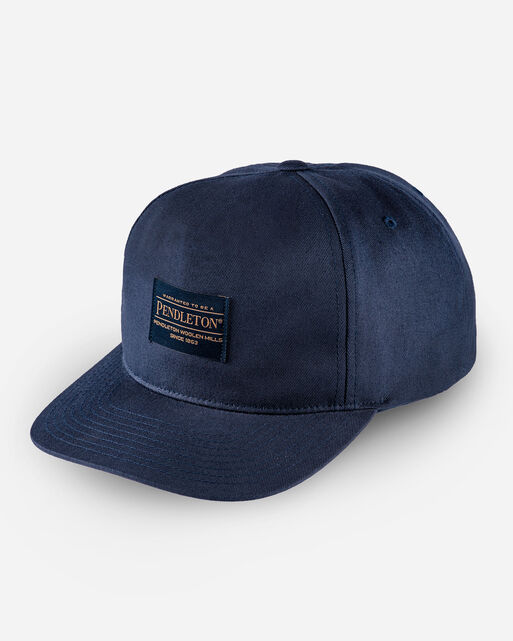 PENDLETON LOGO FLAT BRIM HAT IN NAVY