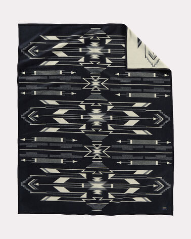 TSI MAYOH BLANKET, BLACK/WHITE, large