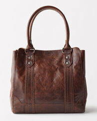 MELISSA TOTE, DARK BROWN, large