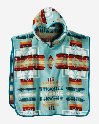 CHIEF JOSEPH HOODED KIDS' TOWEL IN AQUA