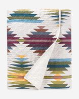 FALCON COVE COVERLET SET IN TAN MULTI