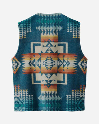 ADDITIONAL VIEW OF MEN'S JACQUARD WOOL VEST IN CHIEF JOSEPH AEGEAN