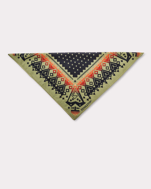 ARROW REVIVAL JUMBO BANDANA, SAGE, large