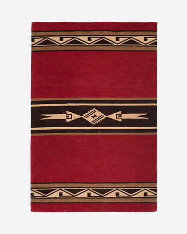 PUEBLO RUG IN RED