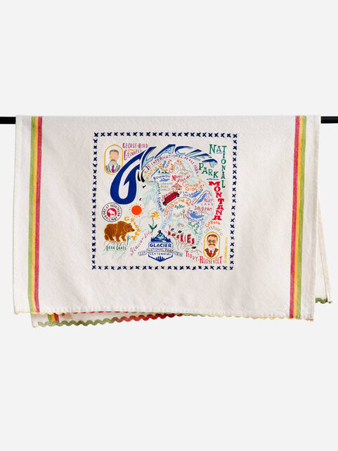 NATIONAL PARK EMBROIDERED DISH TOWELS IN GLACIER PARK