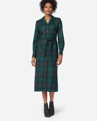 ADDITIONAL VIEW OF THE '49ER COAT DRESS IN BLACK WATCH TARTAN