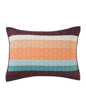 ALTERNATE VIEW OF CRESCENT BUTTE PIECED QUILT SET IN TAN MULTI