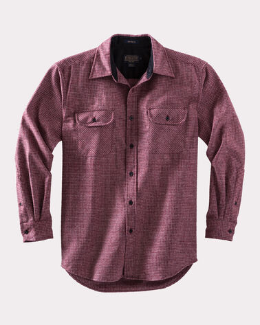 ULTRAFINE MERINO MAVERICK SHIRT, RED/GREY MIX, large