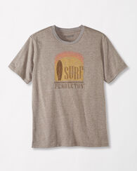 SURF TEE, BROWN HEATHER, large