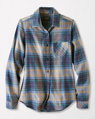 FRANKIE FLANNEL SHIRT, GREY/BLUE PLAID, large