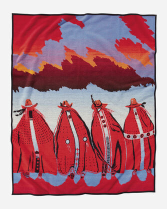 ADDITIONAL VIEW OF RODEO SISTERS BLANKET IN RODEO SISTERS
