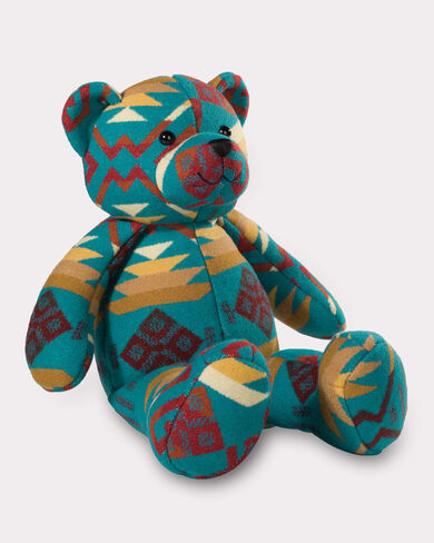 COYOTE BUTTE LUCKY BEAR, TURQUOISE, large