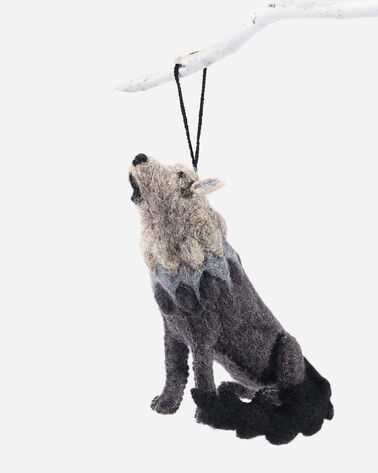 FOREST FRIENDS FELT ORNAMENTS IN WOLF