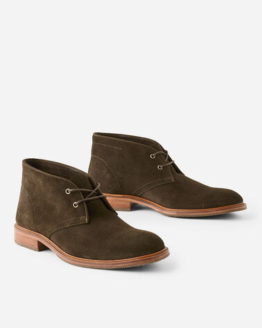 LANDERS CHUKKA BOOTS, OLIVE SUEDE, large