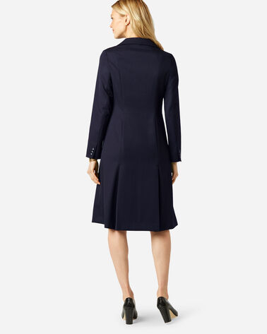 ADDITIONAL VIEW OF SEASONLESS WOOL FLORENCE COAT DRESS IN MIDNIGHT NAVY
