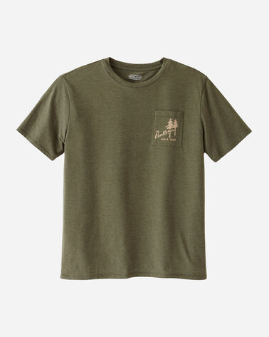 MEN'S PENDLETON LOGO POCKET TEE IN GREEN HEATHER