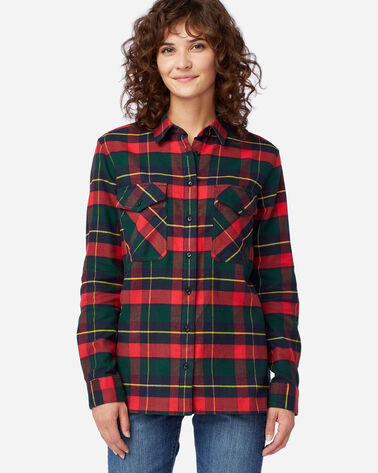 ALTERNATE VIEW OF DOUBLE-BRUSHED FLANNEL ELBOW PATCH SHIRT IN KILGORE DRESS TARTAN