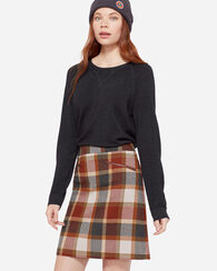 MARLOW PLAID WOOL SKIRT