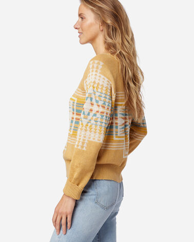 ALTERNATE VIEW OF WOMEN'S HARDING RAGLAN COTTON SWEATER IN GOLD