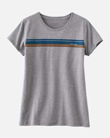 WOMEN'S NATIONAL PARK STRIPE TEE, OLYMPIC GREY, large