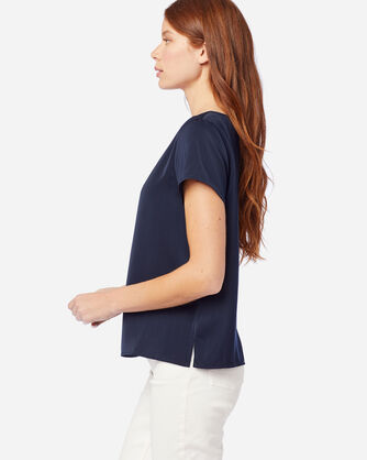 ALTERNATE VIEW OF WOMEN'S SOFT PULLOVER TOP IN MIDNIGHT NAVY