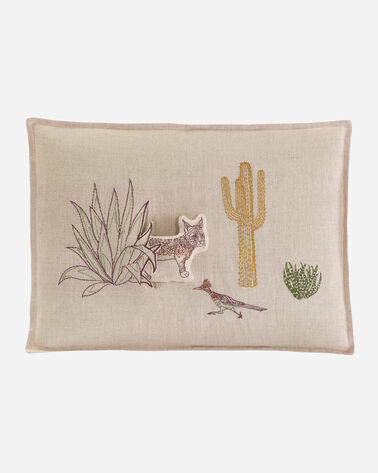 SAGUARO BOBCAT POCKET PILLOW IN NATURAL LINEN