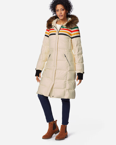 WOMEN'S LONG APRES DOWN PUFFER, GLACIER IVORY, large