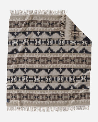 ALTERNATE VIEW OF SONORA FRINGED THROW IN TAN
