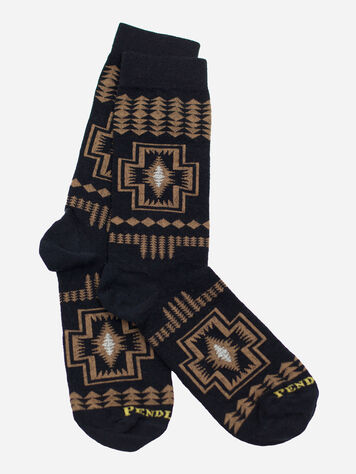 HARDING CREW SOCKS IN BLACK