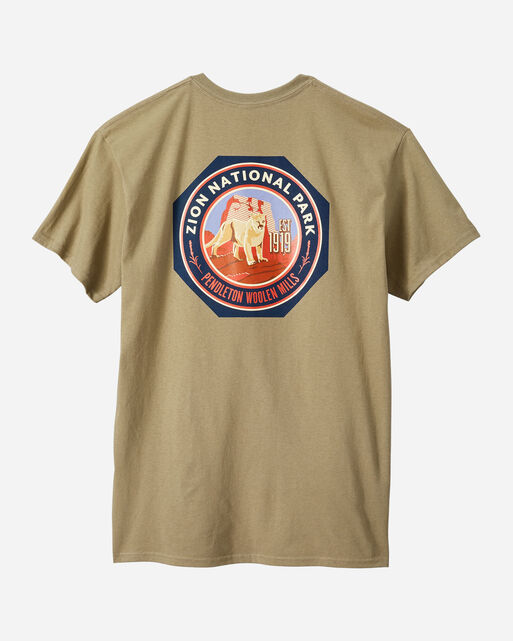ALTERNATE VIEW OF MEN'S ZION PARK TEE IN OLIVE