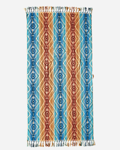 PAGOSA SPRINGS SPA TOWEL WITH FRINGE IN MARINE