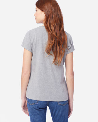 ALTERNATE VIEW OF WOMEN'S JACQUARD GRAPHIC TEE IN LIGHT GREY HEATHER