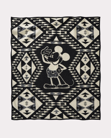 DISNEY'S MICKEY'S SALUTE THROW, BLACK/WHITE, large