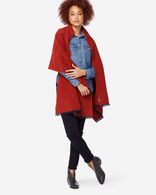 EXTRAFINE MERINO OVERSIZED WOOL WRAP IN RED
