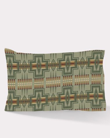 HARDING FLANNEL PILLOW CASES, THYME, large