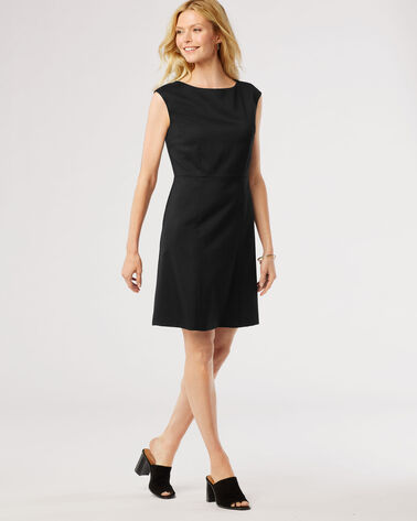ULTRA 9 STRETCH WOOL HARROW DRESS, BLACK, large