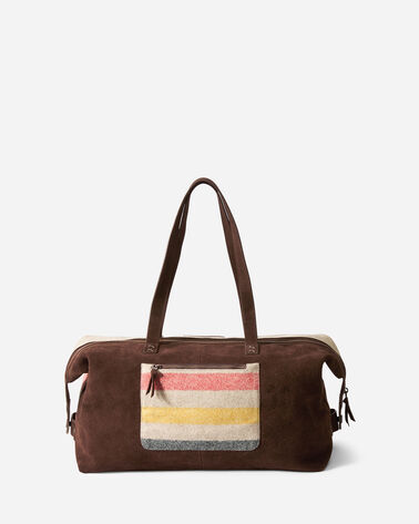 ADDITIONAL VIEW OF GLACIER STRIPE WOOL WEEKENDER BAG IN IVORY