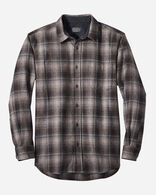 MEN'S FITTED LODGE SHIRT IN TAN/BLACK/GREY OMBRE