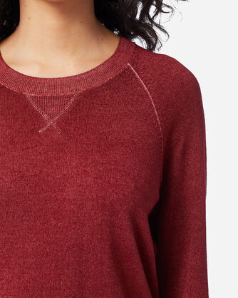 ADDITIONAL VIEW OF WOMEN'S MAGIC-WASH MERINO CREWNECK IN RED ROCK