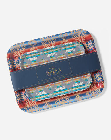 BIRCHWOOD JACQUARD TRAY SET IN MULTI