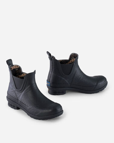 EMBOSSED CHELSEA RAIN BOOTS IN BLACK