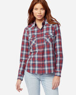 WOMEN'S LONG-SLEEVE FRONTIER SHIRT IN RED/NAVY