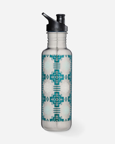 CHIEF JOSEPH WATER BOTTLE, SILVER/AQUA, large