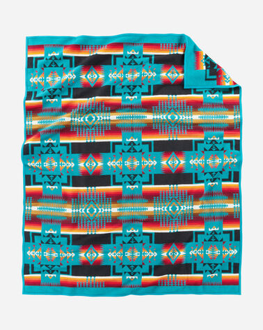 ADDITIONAL VIEW OF CHIEF JOSEPH BLANKET IN TURQUOISE