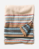 ESCALANTE RIDGE COTTON THROW IN CAMEL