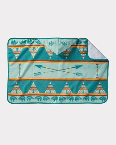 STAR GUARDIAN HOODED BABY TOWEL, TURQUOISE, large