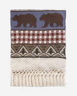 PINE LODGE KNIT THROW IN IVORY